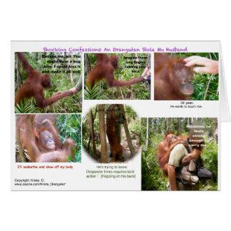 Cartão Humor romântico dos animais selvagens