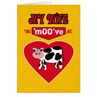 Cartão Humor rural do país dos namorados da esposa com
