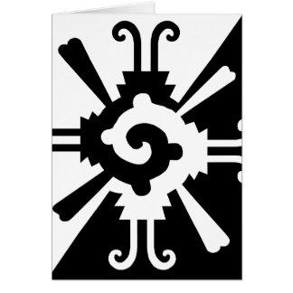 Cartão Hunab Ku-Preto e branco