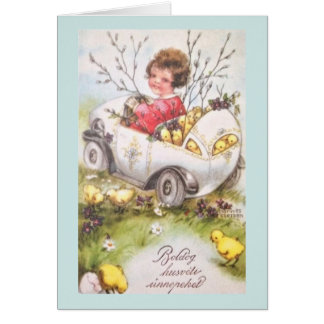 Cartão húngaro da páscoa do vintage