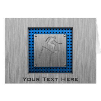 Cartão Hurdler escovado do Metal-olhar