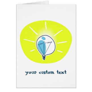 Cartão ícone da apresentação da ideia da luz amarela de