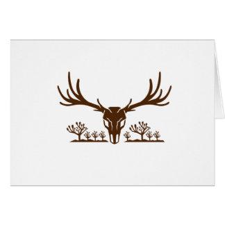 Cartão Ícone da árvore de Joshua do crânio dos cervos de