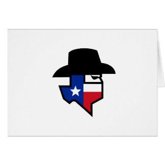Cartão Ícone da bandeira de Texas do bandido