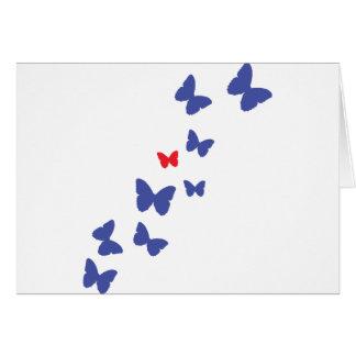 Cartão ícone da borboleta