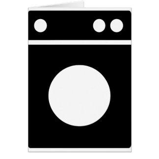Cartão ícone da máquina de lavar