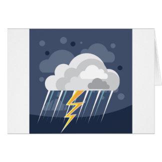 Cartão Ícone da tempestade do mau tempo
