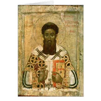 Cartão Ícone do arcebispo de St Gregory de Tessalónica