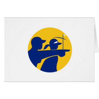 Cartão Ícone do Caddie e do jogador de golfe