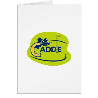 Cartão Ícone do campo de golfe do Caddie e do jogador de