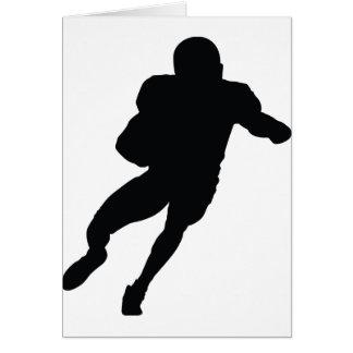 Cartão ícone do futebol do quaterback