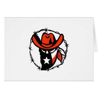 Cartão Ícone foragido do fio de Barb da bandeira de Texas