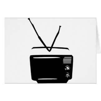 Cartão ícone preto da televisão da tevê