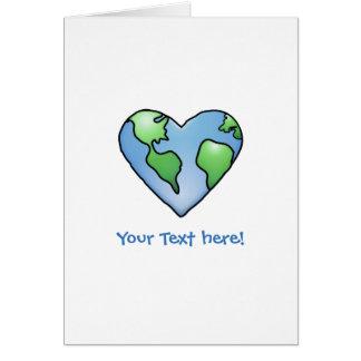 Cartão Ícone protegido coração do estilo dos desenhos