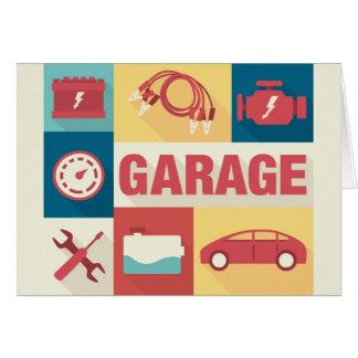 Cartão Icónico profissional do reparador do carro