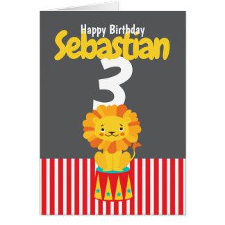Cartão Idade personalizada e nome do feliz aniversario