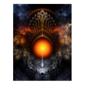 Cartão ideal da arte do Fractal da esfera