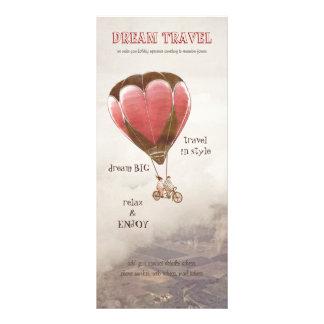 Cartão ideal da cremalheira do viagem 10.16 x 22.86cm panfleto