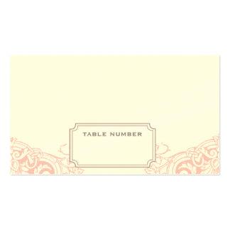 Cartão ideal delicado da escolta do casamento cartão de visita