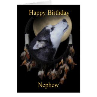 Cartão ideal do sobrinho do feliz aniversario do