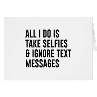 Cartão Ignore textos