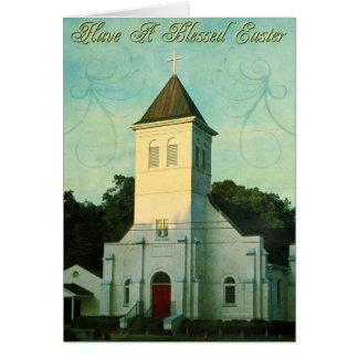 Cartão Igreja abençoada da páscoa