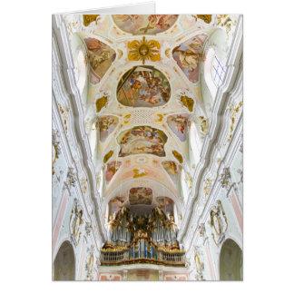 Cartão Igreja da abadia da rua Georg, Ochsenhausen,