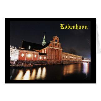 Cartão Igreja de Holmens (Kirke) em Copenhaga, Dinamarca