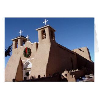 Cartão Igreja de San Francisco de Asis Missão no Natal