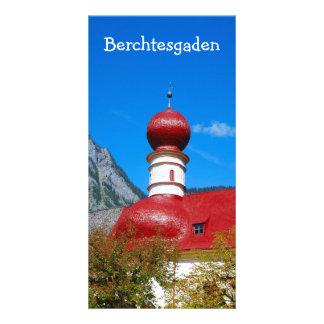 Cartão Igreja de St.Bartholomä em Berchtesgaden