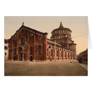 Cartão Igreja de St Mary a gracioso, Milão, Italia
