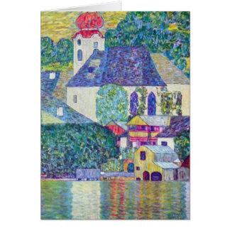 Cartão Igreja do St. Wolfgang por Gustavo Klimt, arte do
