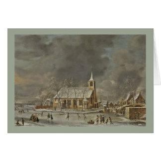 Cartão Igreja e Iceskaters