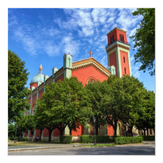 Cartão Igreja luterana nova em Kezmarok, Slovakia