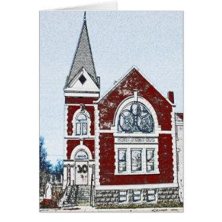 Cartão Igreja metodista central - Rogers, AR