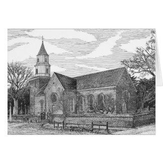 Cartão Igreja paroquial de Bruton, Williamsburg, Virgínia