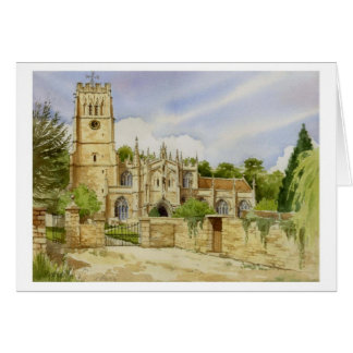 Cartão Igreja paroquial de Northleach