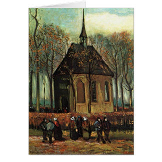 Cartão Igreja reformada em Nuenen, belas artes de Van