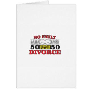 Cartão igualdade 50 do divórcio 50 da no-falha