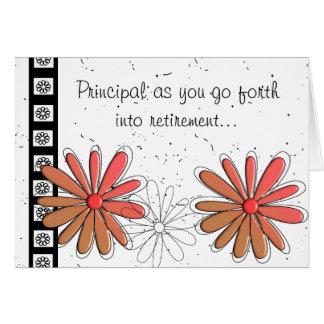 Cartão II da aposentadoria do director de escola