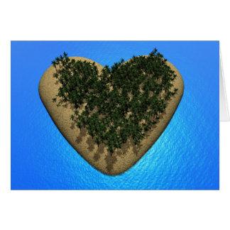 Cartão Ilha do coração - 3D rendem