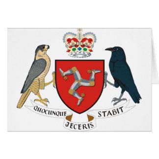 Cartão ilha do emblema do homem
