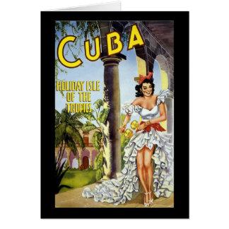 Cartão Ilha do feriado de Cuba dos trópicos