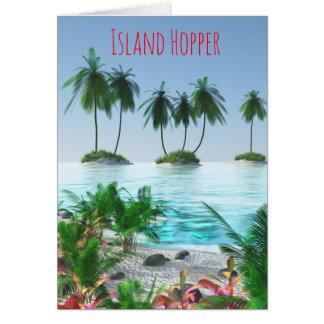 Cartão Ilha tropical do paraíso
