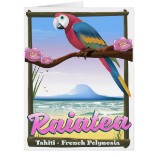 Cartão Ilhas de sociedade de Raiatea, Tahiti, Polinésia