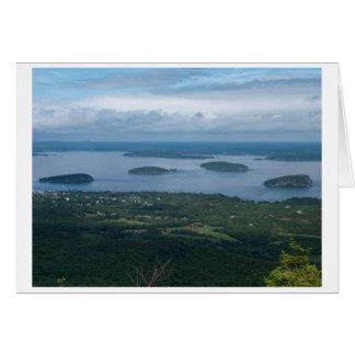 Cartão Ilhas Maine do porco-