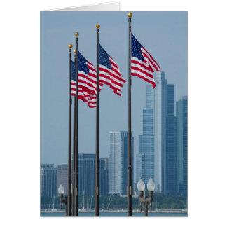 Cartão Illinois, Chicago. O cais do marinho, E.U.