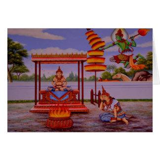 cartão iluminado de Buddha