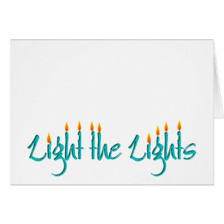 Cartão Ilumine as luzes