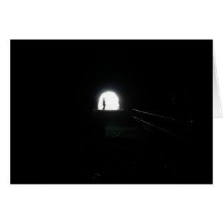 Cartão ilumine na extremidade do túnel - notecard